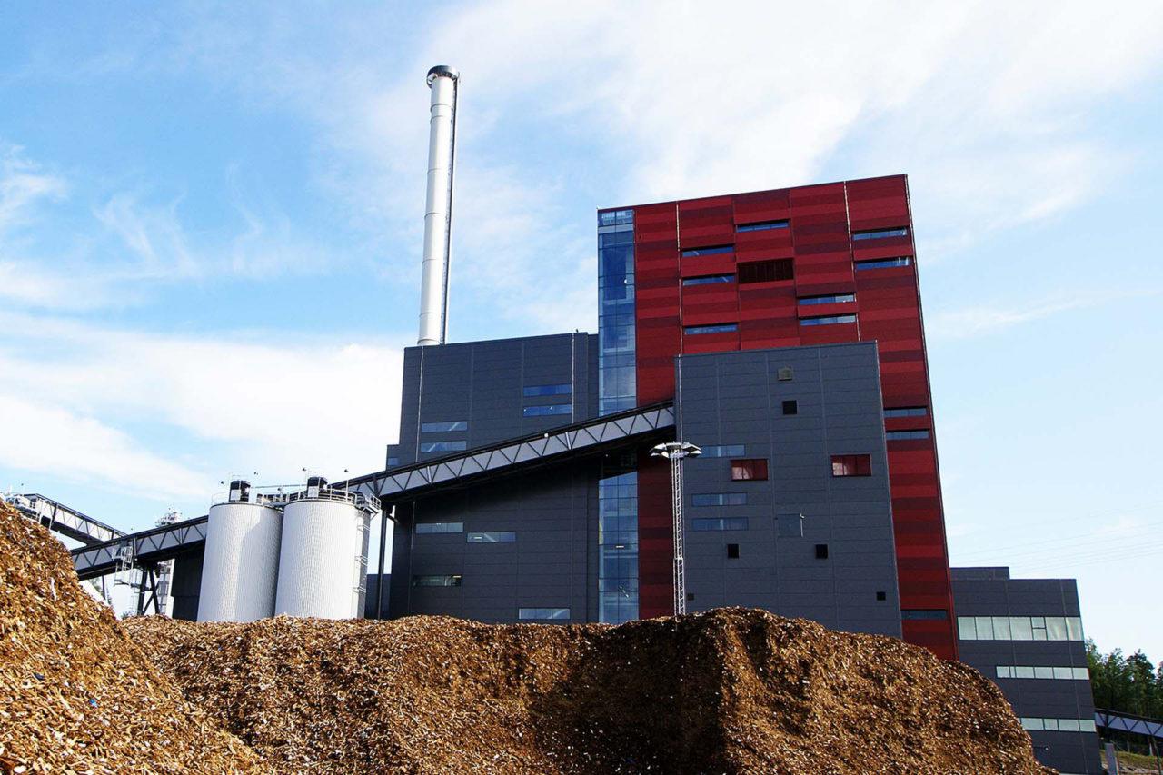 Holzheizkraftwerk wird angezeigt